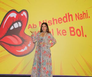 Actress Bhumi Pedneka During the Launch Of MTV New Drama Series Nishedh.
