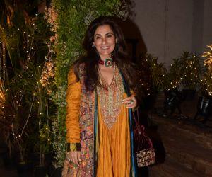 Bollywood celebs at a wedding reception at The Club in Mumbai
