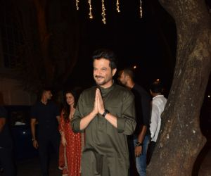 Anil Kapoor celebrate Karva chauth at Anil Kapoor's house in juhu
