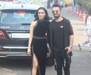 Shraddha and Siddhanth Kapor At Indian Pro Music League Filmcity