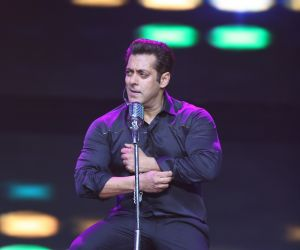 Actor Salman Khan during Da-bangg Tour Hyderabad