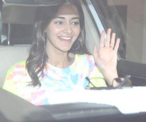 Actress Ananya Pandey spotted at Karan Johar's house in bandra