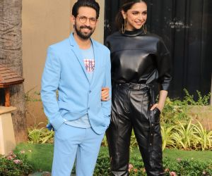 Deepika Padukone and Vikrant Massey at promotin of  film Chhapaak.