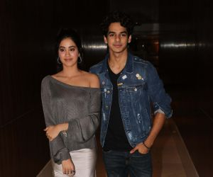 Ishaan Khattar and Jhanvi Kapoor during Dhadak promotions at Novotel in juhup