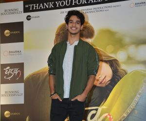 Dhadak success press conference at jw marriott in juhu