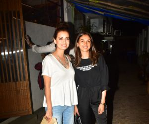 Dia Mirza and Aditi Rao Hydari spotted at bandra