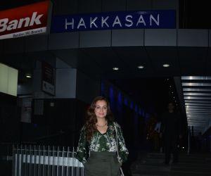 Dia Mirza spotted at Hakkasan bandra