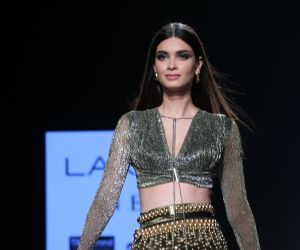 Actress Diana Penty for Shivana Naresh at Lakmé Fashion Week summer resort 2020