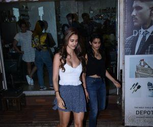 Disha Patani spotted at salon in bandra