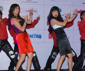 Eesha Koppikar and Celina Jaitly at the Music Launch of Movie Hello Darling held at JW Marriott on 27th July,2010