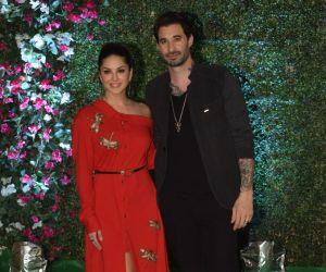 Sunny Leone and her husband Daniel Weber join Ekta Kapoor Party