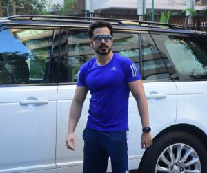 Emraan Hashmi spotted at I think fitness gym bandra