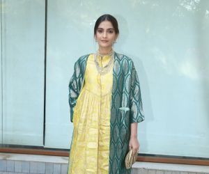 Actres Sonam Kapoor at the inauguration of Surinder Kapoor chowk at chembur