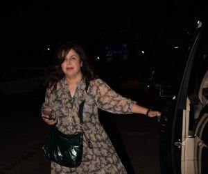 Farah Khan Spotted At Cromakay Salon