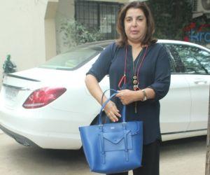 Farah Khan Spotted At Kromakay Salon