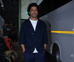 Farhan Akhtar for the promotions of film Sky is Pink at filmcity