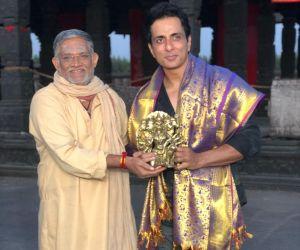 Felicitation to Sonu Sood garu by Tanikella Bharani garu