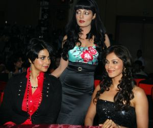 Gul Panag, Celina Jaitly and Eesha Koppikar at the Music Launch of Movie Hello Darling held at JW Marriott on 27th July,2010