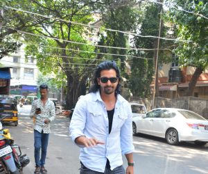 Harshvardhan Rane spotted at indigo Bandra
