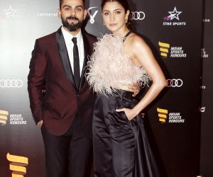 Anushka and Kohli at Honour 2019 at NSCI
