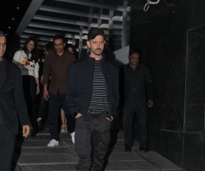 Actor Hrithik Roshan  spotted at Hakkasan in bandra
