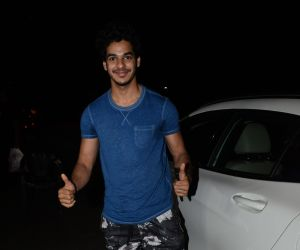 Ishaan Khattar spotted at salon in juhu