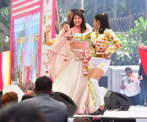 Actress Jacqueline Fernandez celebrate at Zoom Holi Party in Taj Lands End bandra