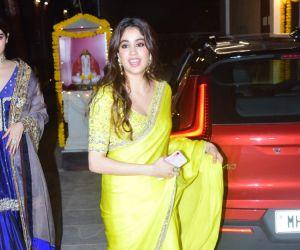 Janhvi And Khushi Kapoor At Boney Kapoor's Office In Andheri