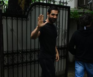 John Abraham spotted at bandra