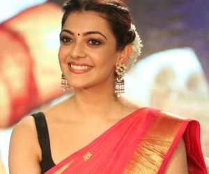 Photos: Kajal Aggarwal is elegance personified in this traditional magenta golden saree
