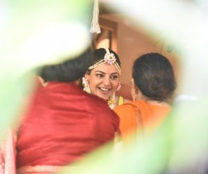 Kajal Aggarwal Spotted At Her Mehendi Ceremony