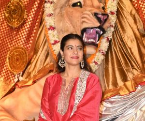 Kajol  At 72nd North Bombay Sarbojanin Durga Puja