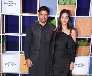 Actor Farhan Akhtar and Shibani Dandekar attended Jeff Bezos Welcome Bash.