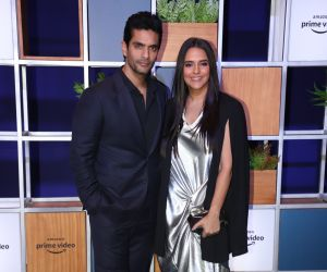 Actress Neha Dhupia and Angad Bedi attended Jeff Bezos Welcome Bash.