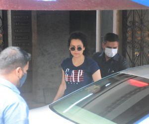 Kangana Ranaut spotted at gym in bandra