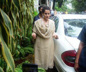 Kangana Ranaut Spotted At Her Office In Bandra