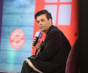 Karan Johar addresses at 'We The Women' programme in Mumbai