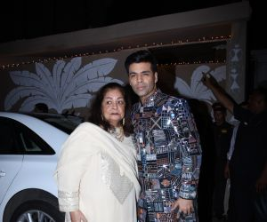 Karan Johar at actor Amitabh Bachchan's Diwali party