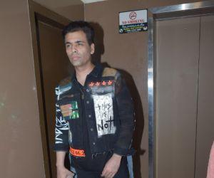 Karan Johar  of film Good Newwz at pvr juhu - photos