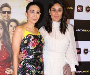 Actress Kareena Kapoor and Karisma Kapoor at the special screening ff web series mentalhood