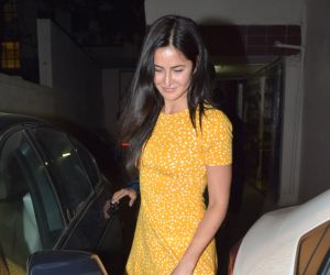 Actres Katrina Kaif seen at Dharma office in khar.