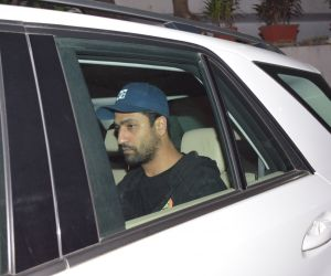 Actor Vicky Kaushal spotted at Arti Shetty's house juhu