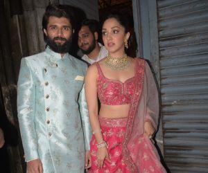 Kiara Advani and Vijay Devrakonda at filmalaya studio in Andheri