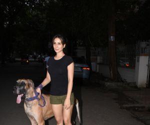 Kim Sharma spotted at bandra