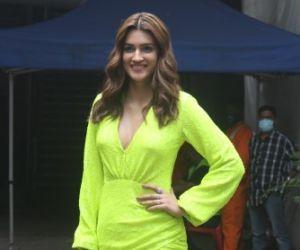 Kriti Sanon spotted at Filmcity Goregaon