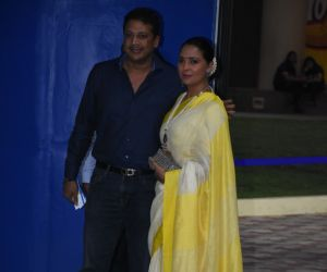Lara Dutta and husband at the annual day function of Dhirubhai Ambani International School.