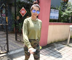 Malaik Arora spotted at diva yoga bandra