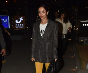 Actress Malaika Arora seen at bkc.