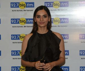 Manushi Chillar at Big FM in andheri