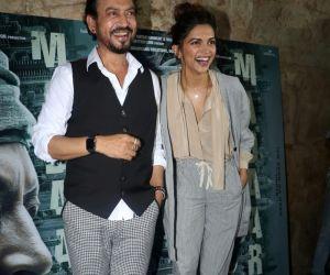 Irrfan Khan & Deepika Padukone @ Madaari  movie Promotion Stills